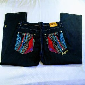 Coogi Relaxed Fit Jeans with Sweater Knit Pockets
